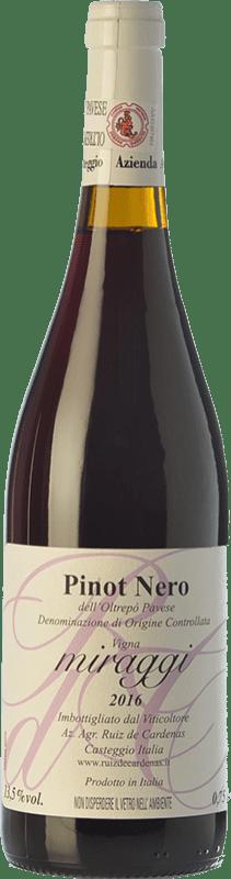 11,95 € | Red wine Ruiz de Cardenas Miraggi I.G.T. Provincia di Pavia Lombardia Italy Pinot Black Bottle 75 cl