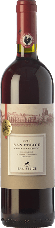 11,95 € Free Shipping | Red wine San Felice D.O.C.G. Chianti Classico Tuscany Italy Sangiovese, Colorino, Pugnitello Bottle 75 cl