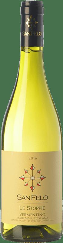 12,95 € Free Shipping | White wine San Felo Le Stoppie D.O.C. Maremma Toscana Tuscany Italy Vermentino Bottle 75 cl