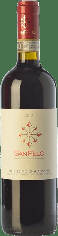 12,95 € Free Shipping | Red wine San Felo D.O.C.G. Morellino di Scansano Tuscany Italy Merlot, Cabernet Sauvignon, Sangiovese Bottle 75 cl