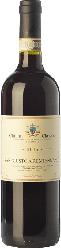 15,95 € Free Shipping | Red wine San Giusto a Rentennano D.O.C.G. Chianti Classico Tuscany Italy Sangiovese, Canaiolo Bottle 75 cl
