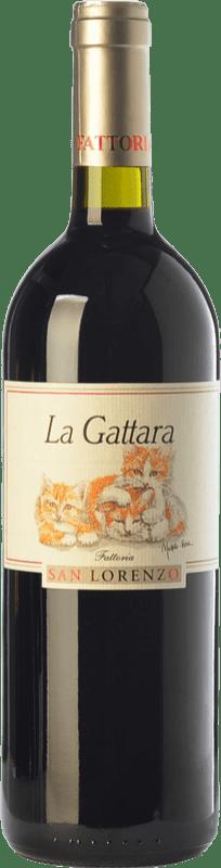 25,95 € Free Shipping | Red wine San Lorenzo La Gattara D.O.C. Rosso Conero Marche Italy Sangiovese, Montepulciano Bottle 75 cl
