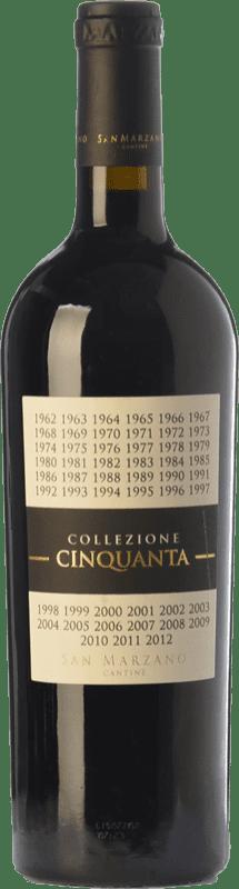 55,95 € Envío gratis | Vino tinto San Marzano Collezione Cinquanta I.G.T. Puglia Puglia Italia Primitivo, Negroamaro Botella Mágnum 1,5 L