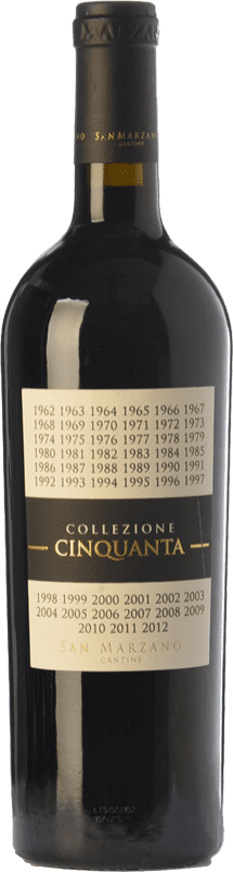 25,95 € 免费送货 | 红酒 San Marzano Collezione Cinquanta 意大利 Primitivo, Negroamaro 瓶子 75 cl