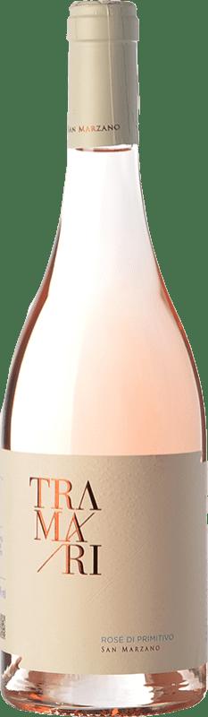 13,95 € 免费送货 | 玫瑰酒 San Marzano Tramari Rosé di Primitivo I.G.T. Salento 坎帕尼亚 意大利 Primitivo 瓶子 75 cl