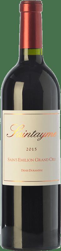 22,95 € Envío gratis | Vino tinto Santayme Crianza A.O.C. Saint-Émilion Grand Cru Burdeos Francia Merlot Botella 75 cl