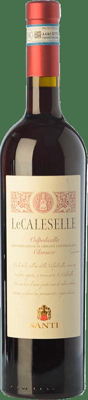 9,95 € Free Shipping | Red wine Santi Le Caleselle D.O.C. Valpolicella Veneto Italy Corvina, Rondinella, Molinara Bottle 75 cl