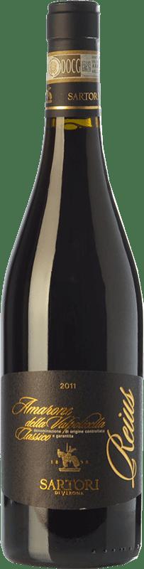 34,95 € | Red wine Sartori Classico Reius D.O.C.G. Amarone della Valpolicella Veneto Italy Cabernet Sauvignon, Corvina, Rondinella, Corvinone Bottle 75 cl