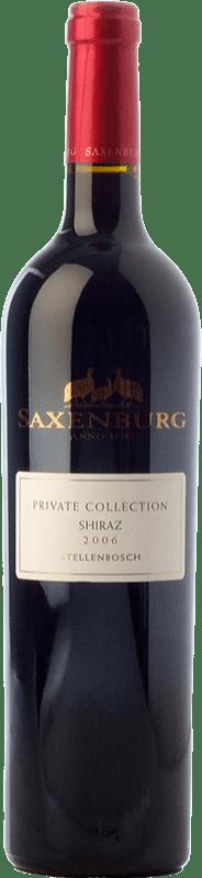 32,95 € Envío gratis | Vino tinto Saxenburg PC Shiraz Crianza I.G. Stellenbosch Stellenbosch Sudáfrica Syrah Botella 75 cl