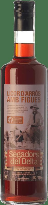 15,95 € Envío gratis | Crema de Licor Segadors del Delta Licor d'Arròs amb Figues Cataluña España Botella 70 cl
