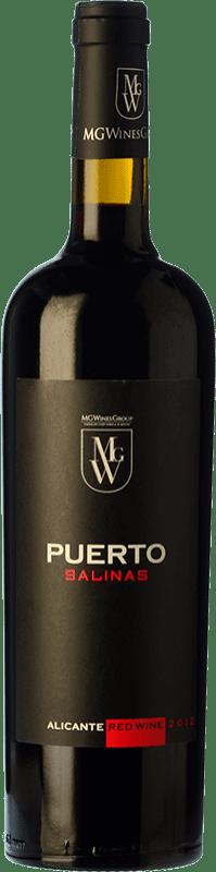 16,95 € 免费送货 | 红酒 Sierra Salinas Puerto Joven D.O. Alicante 巴伦西亚社区 西班牙 Cabernet Sauvignon, Monastrell, Grenache Tintorera, Petit Verdot 瓶子 75 cl