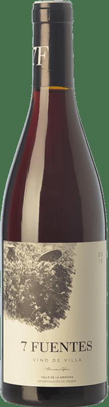 15,95 € Free Shipping | Red wine Soagranorte Suertes del Marqués 7 Fuentes Joven D.O. Valle de la Orotava Canary Islands Spain Listán Black, Tintilla Bottle 75 cl