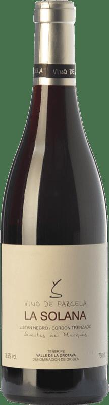 19,95 € Free Shipping | Red wine Soagranorte Suertes del Marqués La Solana Joven D.O. Valle de la Orotava Canary Islands Spain Listán Black Bottle 75 cl