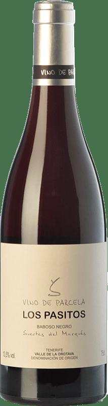 39,95 € Free Shipping | Red wine Soagranorte Suertes del Marqués Los Pasitos Crianza D.O. Valle de la Orotava Canary Islands Spain Baboso Black Bottle 75 cl