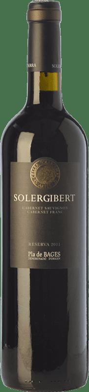 13,95 € | Red wine Solergibert Cabernet Reserva D.O. Pla de Bages Catalonia Spain Cabernet Sauvignon, Cabernet Franc Bottle 75 cl