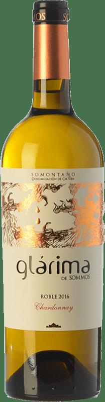 7,95 € Envío gratis | Vino blanco Sommos Glárima Crianza D.O. Somontano Aragón España Chardonnay Botella 75 cl