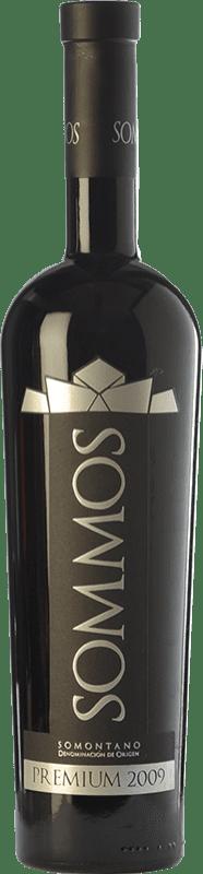 37,95 € Envío gratis | Vino tinto Sommos Premium Crianza D.O. Somontano Aragón España Tempranillo, Merlot, Syrah Botella 75 cl