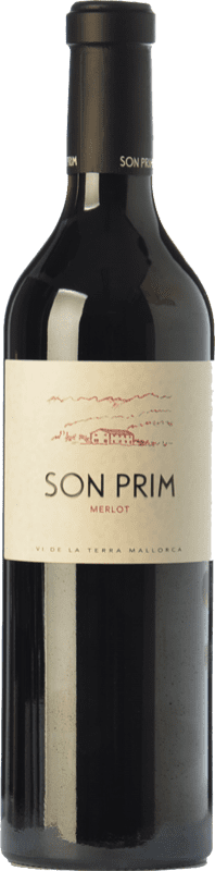 24,95 € | Red wine Son Prim Crianza I.G.P. Vi de la Terra de Mallorca Balearic Islands Spain Merlot Bottle 75 cl