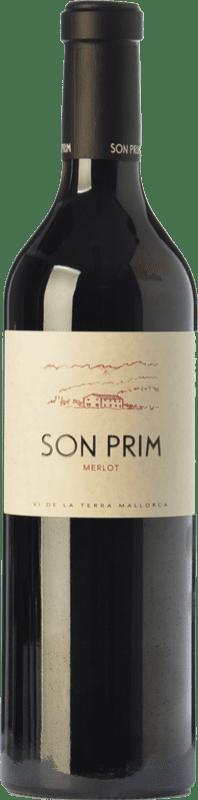 24,95 € Envío gratis | Vino tinto Son Prim Crianza I.G.P. Vi de la Terra de Mallorca Islas Baleares España Merlot Botella 75 cl