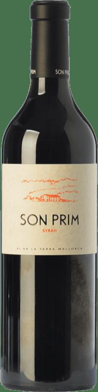 16,95 € Envío gratis | Vino tinto Son Prim Crianza I.G.P. Vi de la Terra de Mallorca Islas Baleares España Syrah Botella 75 cl
