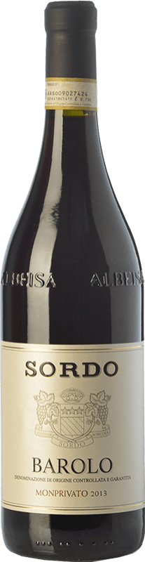 78,95 € Envío gratis | Vino tinto Sordo Monprivato D.O.C.G. Barolo Piemonte Italia Nebbiolo Botella 75 cl