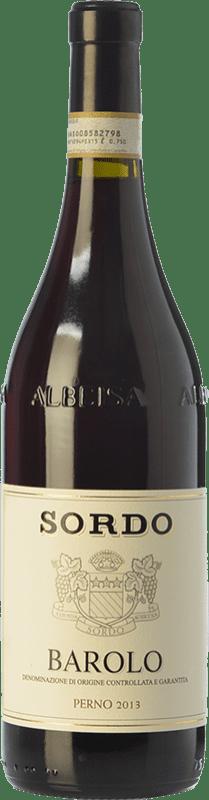 49,95 € 免费送货 | 红酒 Sordo Perno D.O.C.G. Barolo 皮埃蒙特 意大利 Nebbiolo 瓶子 75 cl