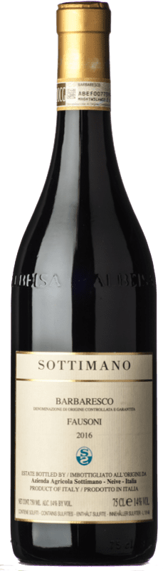 89,95 € 免费送货 | 红酒 Sottimano Fausoni D.O.C.G. Barbaresco 皮埃蒙特 意大利 Nebbiolo 瓶子 75 cl