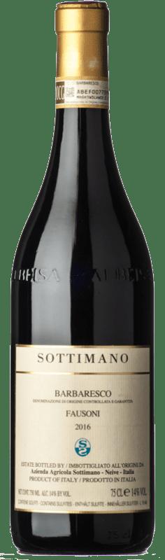 89,95 € Envío gratis | Vino tinto Sottimano Fausoni D.O.C.G. Barbaresco Piemonte Italia Nebbiolo Botella 75 cl