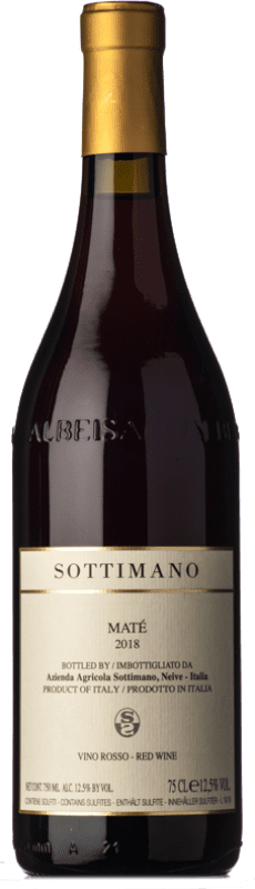14,95 € Envío gratis | Vino tinto Sottimano Maté D.O.C. Langhe Piemonte Italia Brachetto Botella 75 cl
