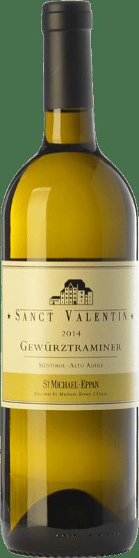 29,95 € Envío gratis | Vino blanco St. Michael-Eppan Sanct Valentin D.O.C. Alto Adige Trentino-Alto Adige Italia Gewürztraminer Botella 75 cl