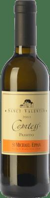 32,95 € Envío gratis | Vino dulce St. Michael-Eppan Sanct Valentin Comtess D.O.C. Alto Adige Trentino-Alto Adige Italia Sauvignon Blanca, Gewürztraminer, Riesling Media Botella 37 cl