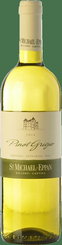 13,95 € Envío gratis | Vino blanco St. Michael-Eppan Pinot Grigio D.O.C. Alto Adige Trentino-Alto Adige Italia Pinot Gris Botella 75 cl