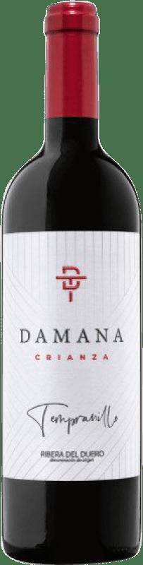 17,95 € Envío gratis | Vino tinto Tábula Damana Crianza D.O. Ribera del Duero Castilla y León España Tempranillo, Merlot, Cabernet Sauvignon Botella 75 cl