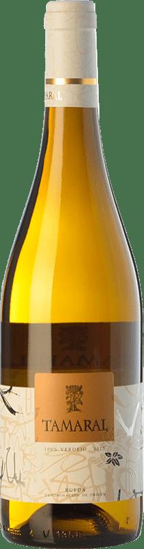 8,95 € Envío gratis | Vino blanco Tamaral D.O. Rueda Castilla y León España Verdejo Botella 75 cl
