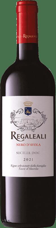 11,95 € 免费送货 | 红酒 Tasca d'Almerita Regaleali I.G.T. Terre Siciliane 西西里岛 意大利 Nero d'Avola 瓶子 75 cl