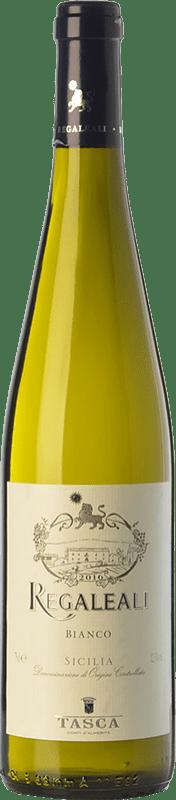 11,95 € 免费送货 | 白酒 Tasca d'Almerita Regaleali Bianco I.G.T. Terre Siciliane 西西里岛 意大利 Chardonnay, Insolia, Grecanico Dorato, Catarratto 瓶子 75 cl