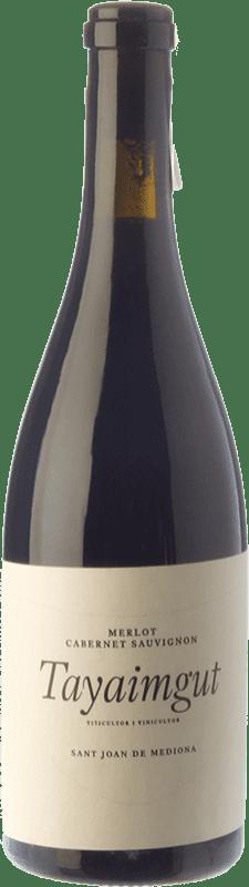 16,95 € Free Shipping | Red wine Tayaimgut Hort de les Canyes Crianza D.O. Penedès Catalonia Spain Merlot, Cabernet Sauvignon Bottle 75 cl