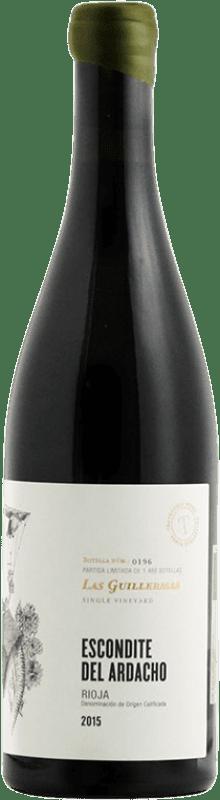 44,95 € Envío gratis | Vino tinto Tentenublo Escondite del Ardacho Las Guillermas Crianza D.O.Ca. Rioja La Rioja España Tempranillo, Viura Botella 75 cl