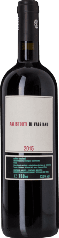 17,95 € Free Shipping | Red wine Tenuta di Valgiano Palistorti Rosso D.O.C. Colline Lucchesi Tuscany Italy Merlot, Syrah, Sangiovese Bottle 75 cl