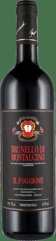 53,95 € Envío gratis | Vino tinto Il Poggione D.O.C.G. Brunello di Montalcino Toscana Italia Sangiovese Botella 75 cl