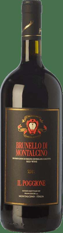 42,95 € Envío gratis | Vino tinto Il Poggione D.O.C.G. Brunello di Montalcino Toscana Italia Sangiovese Botella Mágnum 1,5 L