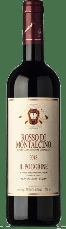 24,95 € Envío gratis | Vino tinto Il Poggione D.O.C. Rosso di Montalcino Toscana Italia Sangiovese Botella 75 cl