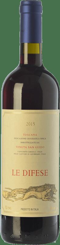 22,95 € Envoi gratuit | Vin rouge San Guido Le Difese I.G.T. Toscana Toscane Italie Cabernet Sauvignon, Sangiovese Bouteille 75 cl