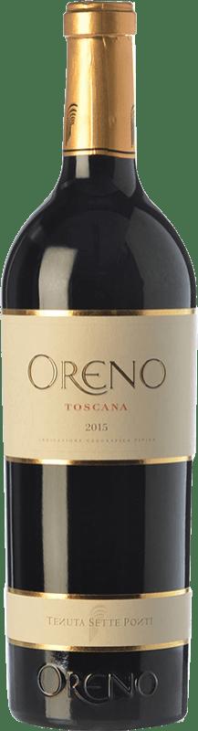 93,95 € | Red wine Tenuta Sette Ponti Oreno I.G.T. Toscana Tuscany Italy Merlot, Cabernet Sauvignon, Petit Verdot Bottle 75 cl