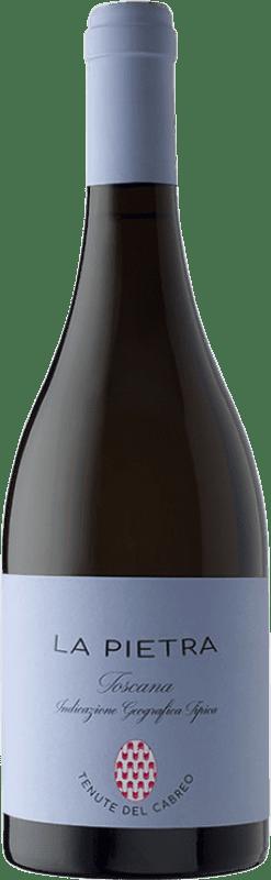 38,95 € Free Shipping | White wine Cabreo La Pietra I.G.T. Toscana Tuscany Italy Chardonnay Bottle 75 cl