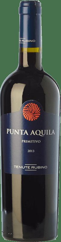 15,95 € Free Shipping | Red wine Tenute Rubino Punta Aquila I.G.T. Salento Campania Italy Primitivo Bottle 75 cl