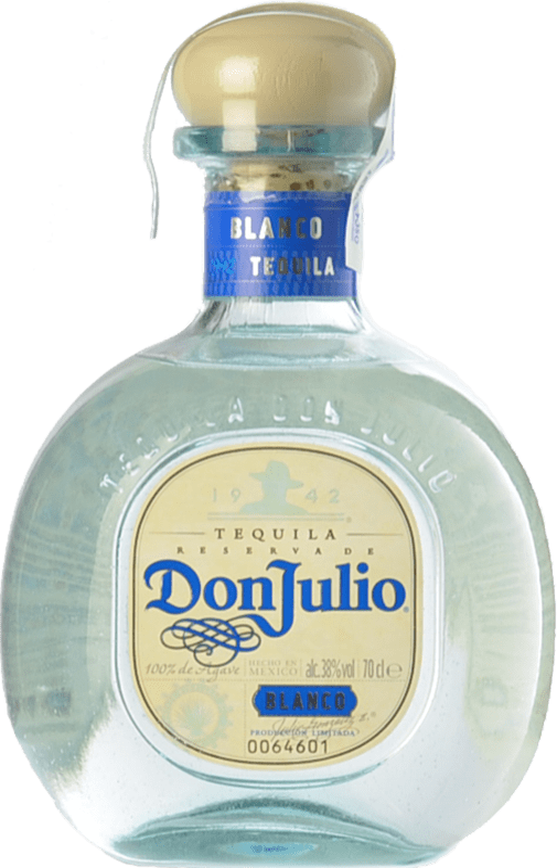 37,95 € Envío gratis | Tequila Don Julio Blanco Jalisco Mexico Botella 70 cl