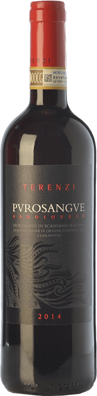 17,95 € | Red wine Terenzi Riserva Purosangue Reserva D.O.C.G. Morellino di Scansano Tuscany Italy Sangiovese Bottle 75 cl