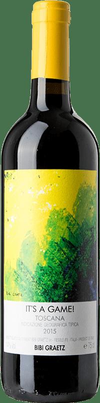 19,95 € Free Shipping | Red wine Bibi Graetz It's a Game I.G.T. Toscana Tuscany Italy Merlot, Syrah, Cabernet Franc Bottle 75 cl