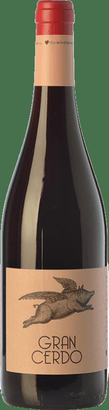 6,95 € 免费送货 | 红酒 Wine Love Gran Cerdo Joven 西班牙 Tempranillo, Graciano 瓶子 75 cl